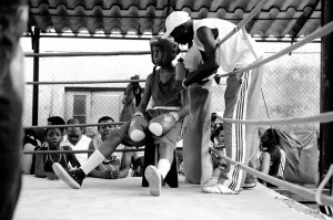 boxing,champion,amateur,teenager,young,boy,break,coach,black and white,b+w,0451-183